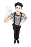 Mime artist gesturing with his hand Royalty Free Stock Image