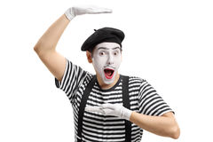Mime artist gesturing with his hands Royalty Free Stock Photo