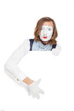 Mime artist shows up on an empty billboard Stock Images