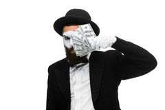 Mime as businessman holding money Stock Photo