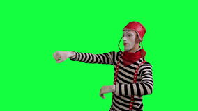 The mime as a driver stock footage
