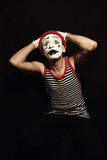 Mime on black background Stock Photography