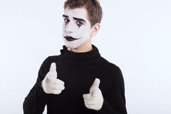 The mime boy Stock Photos