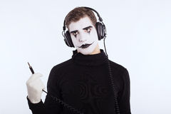 The mime boy Stock Image