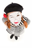 Mime comedian portrait Stock Images