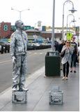 Mime de la calle Fotos de archivo libres de regalías
