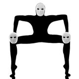Mime del ejecutante con la máscara fotos de archivo libres de regalías