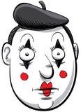 Mime del fumetto Fotografia Stock