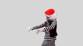 Mime DJ stock video footage