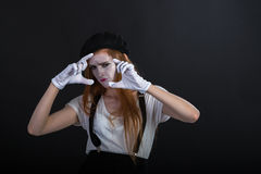 Mime Girl Photo Stock Photography