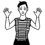 Mime illustration Stock Photography