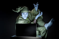 Mime on internet Royalty Free Stock Photography