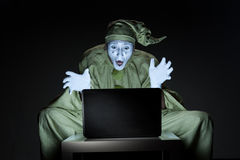 Mime on internet Stock Photo
