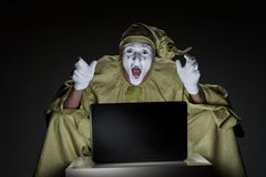 Mime on internet Stock Photography