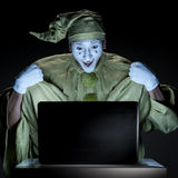 Mime on internet Royalty Free Stock Photo