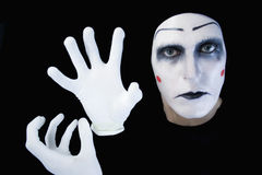 Mime isolated on black background Royalty Free Stock Photography