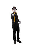 Mime isolated on white background stock image