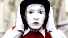 Mime in Paris stock video footage