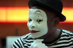 Mime performer Royalty Free Stock Photo