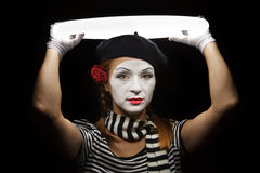 Mime portrait. Royalty Free Stock Photography