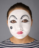 Mime portrait looking to the camera Stock Photos