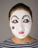 Mime portrait looking to the right top corner Stock Photos