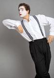 Mime and promotion board Stock Photo