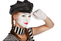 Mime saluting Royalty Free Stock Images