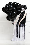 Mime stylized photo of a young beautiful woman Royalty Free Stock Photos