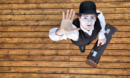 Mime and travel Royalty Free Stock Image