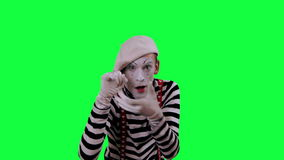 The mime uses an invisible camera stock video