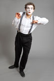 Mime and virtual promotion board Royalty Free Stock Image