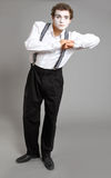 Mime and virtual promotion board Stock Photos