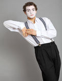 Mime and virtual promotion board Stock Image