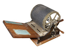 Mimeograph- screen printing machine. 1909 Stock Images