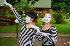 Mimes do their best Royalty Free Stock Photo