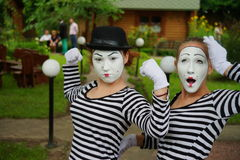 Mimes do their best Royalty Free Stock Photos