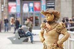 Mimes e statue viventi Fotografia Stock Libera da Diritti