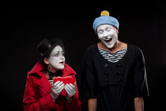 Mimes in love Royalty Free Stock Photo