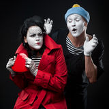 Mimes in love Royalty Free Stock Photography