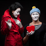 Mimes in love Royalty Free Stock Photos