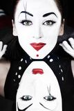 Mimes a man and woman Stock Photography