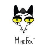 Mimicar o logotype do estilo dos desenhos animados da raposa Imagem de Stock Royalty Free