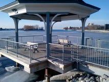 Mimico Marina Del Rey Water μπροστινό περίπτερο Στοκ φωτογραφία με δικαίωμα ελεύθερης χρήσης