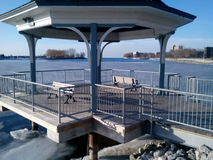 Mimico Marina Del Rey Water Front Kiosk Photo libre de droits