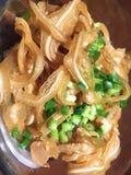 Mimiga svinöra, Okinawa lokal maträtt, Zamami ö, mat, aptitretare Arkivbilder