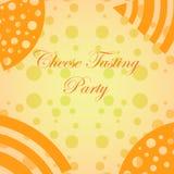 Mimimalistic-Hintergrund für Käse-Probieren-Ereignisse Stockfotos