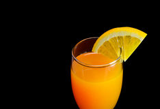Mimosa cocktail with a slice of orange Royalty Free Stock Photos