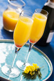 Mimosa cocktail Royalty Free Stock Images
