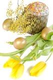 Mimosa del tulipano del dolce dell'uovo di Pasqua Fotografia Stock Libera da Diritti